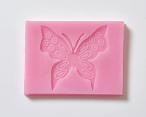 Mariposa Fondant molde de silicona X 10