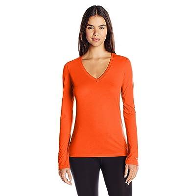 Soffe Women's Long-Sleeve V-Neck Tissue T-Shirt