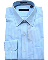 Tommy Hilfiger Men's Non Iron Regular Fit Banker Stripe Point Collar Dress Shirt
