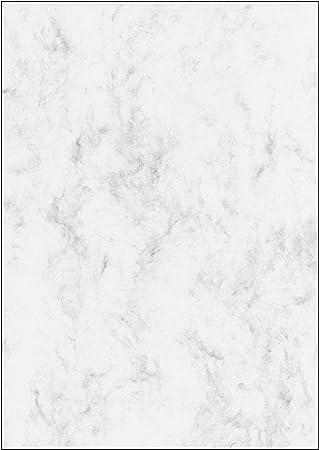 SIGEL DP183 Papel de cartas, 21 x 29,7 cm, 90g/m², mármol gris claro, 25 hojas
