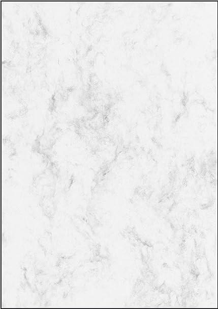 SIGEL DP183 Papel de cartas, 21 x 29,7 cm, 90g/m², mármol gris ...