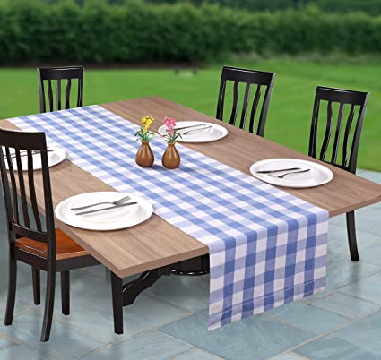 Superieur Farmhouse Table Runner In Cotton Buffalo Check With Hemstitched Detailing,Decorative  Table Runner,Rustic
