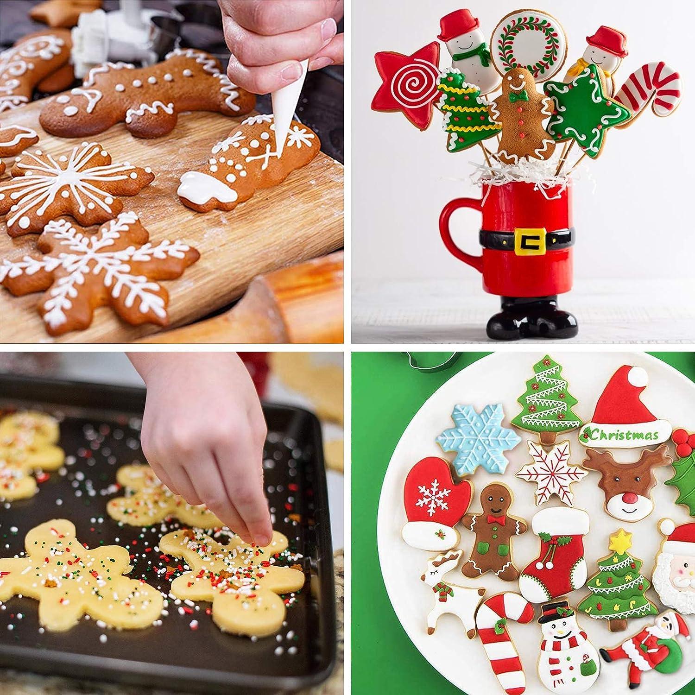 Tacobear 10 St/ück Ausstechformen Weihnachten Keksausstecher Kinder Fondant Obst Gem/üse Brot Pl/ätzchen Ausstecher Weihnachtsbaum Weihnachtsmann Rentier Lebkuchenmann Schneeflocke Ausstechformen