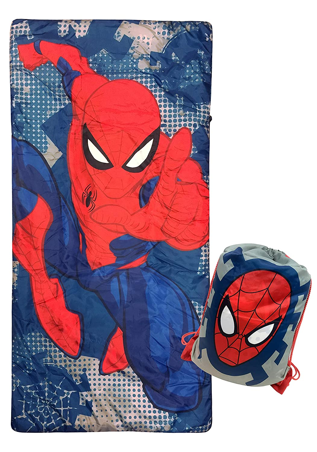 Jay Franco Marvel Spiderman Spidey Dots Slumber Sack - Cozy & Warm Kids Lightweight Slumber Bag/Sleeping Bag (Official Marvel Product)