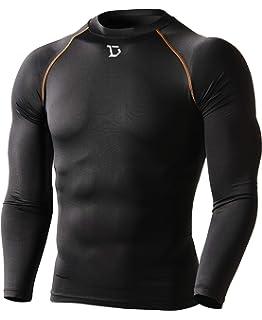 f88d7b03b Defender Men's Quick Dry Compression Baselayer Underlayer Top Long Sleeve T- Shirt