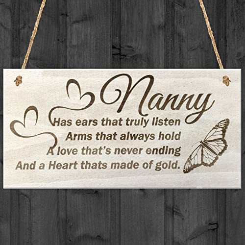 RED OCEAN Nanny Has Ears That Truly Listen Arms Always Hold A Love Wood