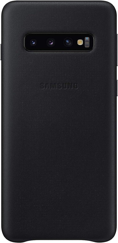 Samsung Leather Cover, funda oficial para Samsung Galaxy 10, color negro: Samsung: Amazon.es: Electrónica