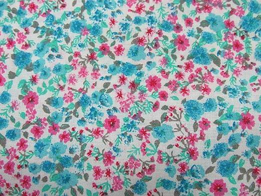 Confección Saymi Metraje 0,50 MTS Tela Liberty Floral 100% algodón ...
