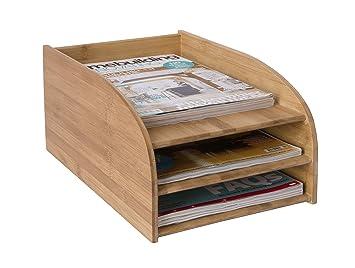 Osco - Papelera de bambú bandeja de tres niveles: Amazon.es: Oficina y papelería