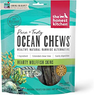 product image for The Honest Kitchen Ocean Chews Grain Free Dog Chew Treats – Natural Human Grade Dehydrated Fish Skins