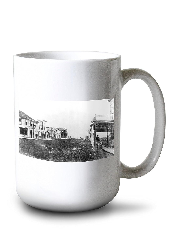 Shaniko、オレゴン州 – メインストリートのビュー 15oz Mug LANT-3P-15OZ-WHT-11174   B077RXZZ2M