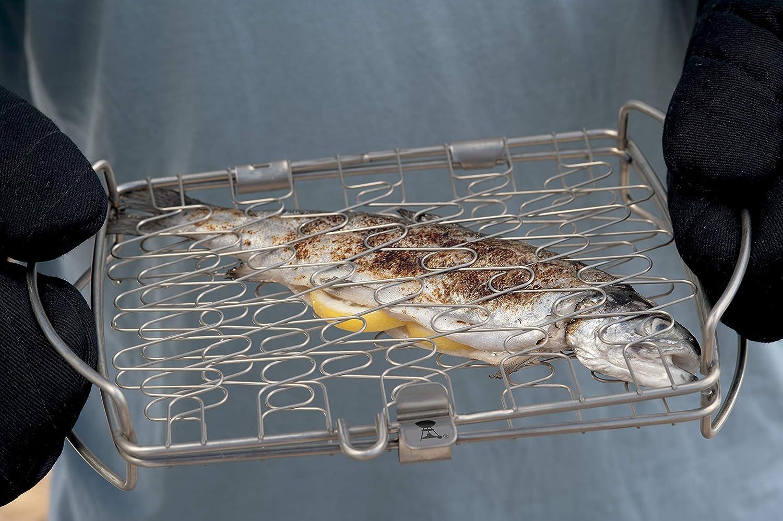 Weber Holzkohlegrill Fisch : Weber fisch und gemüsehalter klein amazon garten