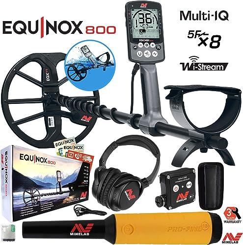 Minelab Equinox 800 Multi-IQ Underwater Metal Detector Pro-Find 15 Pinpointer