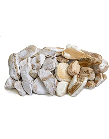 042685495a61b8 Quarrystore Natural Apricot Marble Decorative River Pebbles - Approximately  40mm to 60mm in Size - Ideal