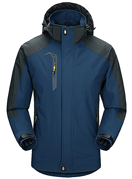1eac1b5d03 ZITY Men s Outdoor Ski Jacket Hiking   Camping Jacket Sport Wear Dark Blue  Medium
