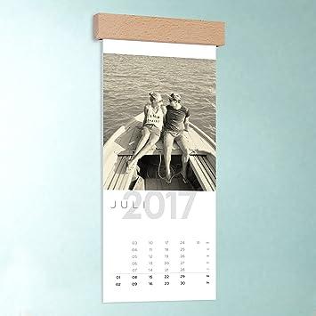 Küchen-Kalender mit Foto zum selbstgestalten, Allezeit, Wandkalender  148x360 mit edler Holzblende, Fotokalender 2017