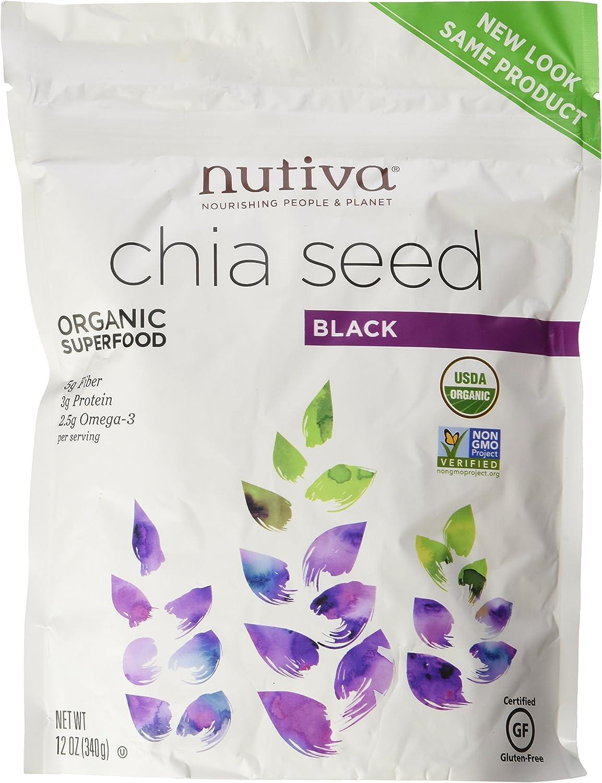 Nutiva Organic Chia Seeds (2 Pack - ORGANIC 12 Ounce)