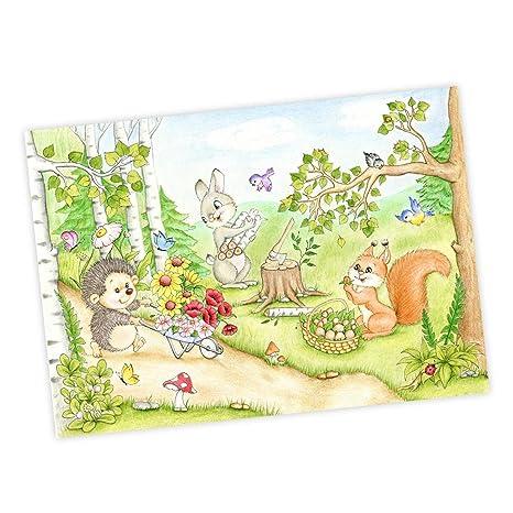 Nikima Joli Pour Enfants 065 Dessin Animé De Forêt