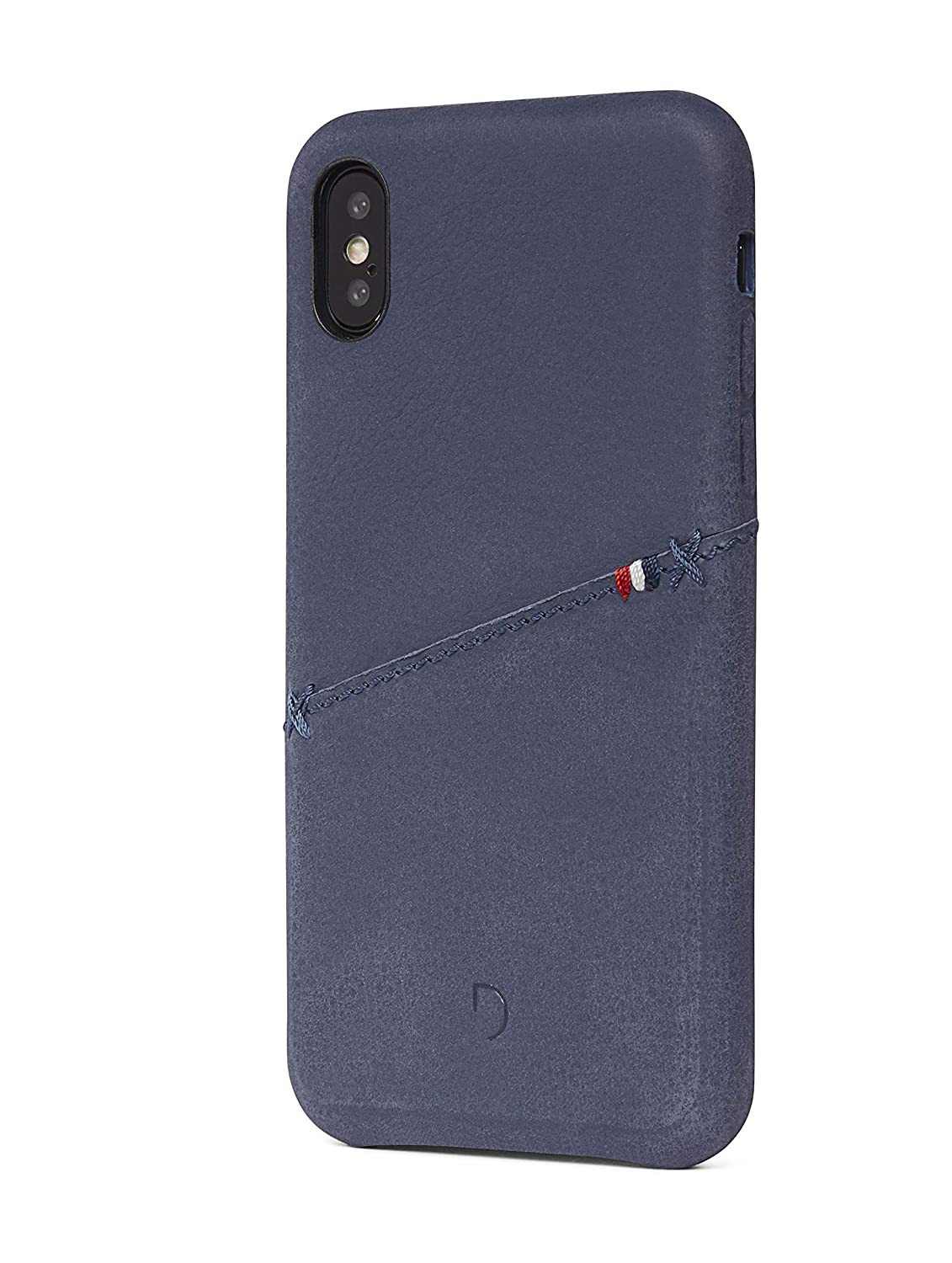 official photos 095e1 16db6 Decoded Premium Full-Grain Leather Back Cover for iPhone X (Indigo ...