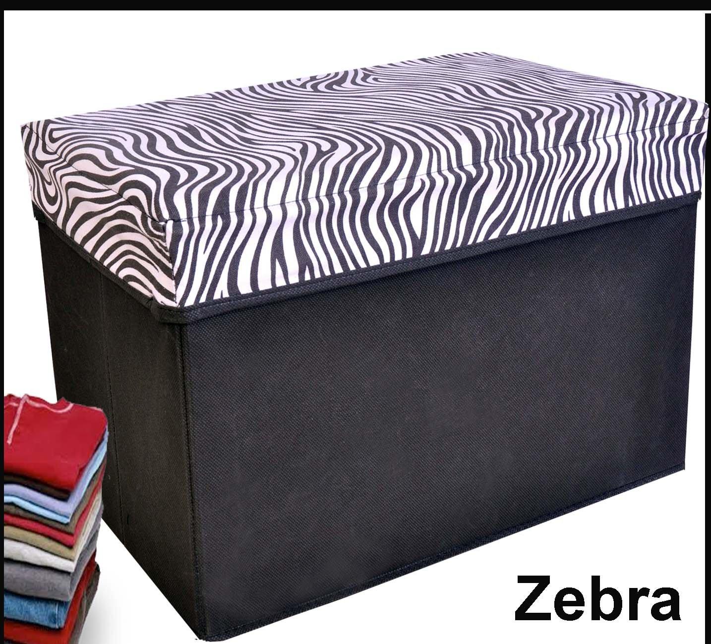 Marvelous Amazon.com: Collapsible Storage Ottoman, Rectangle Shape (Zebra Pattern):  Kitchen U0026 Dining