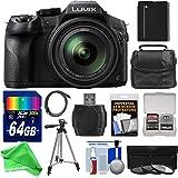 Panasonic Lumix DMC-FZ300 4K Wi-Fi Digital Camera with 64GB Card + Battery + Case + Tripod + 3 Filters + DigitalAndMore PRO Accessory Kit