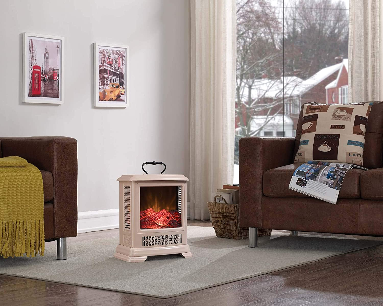 Duraflame Electric Portable Electric Fireplace One Size Khaki