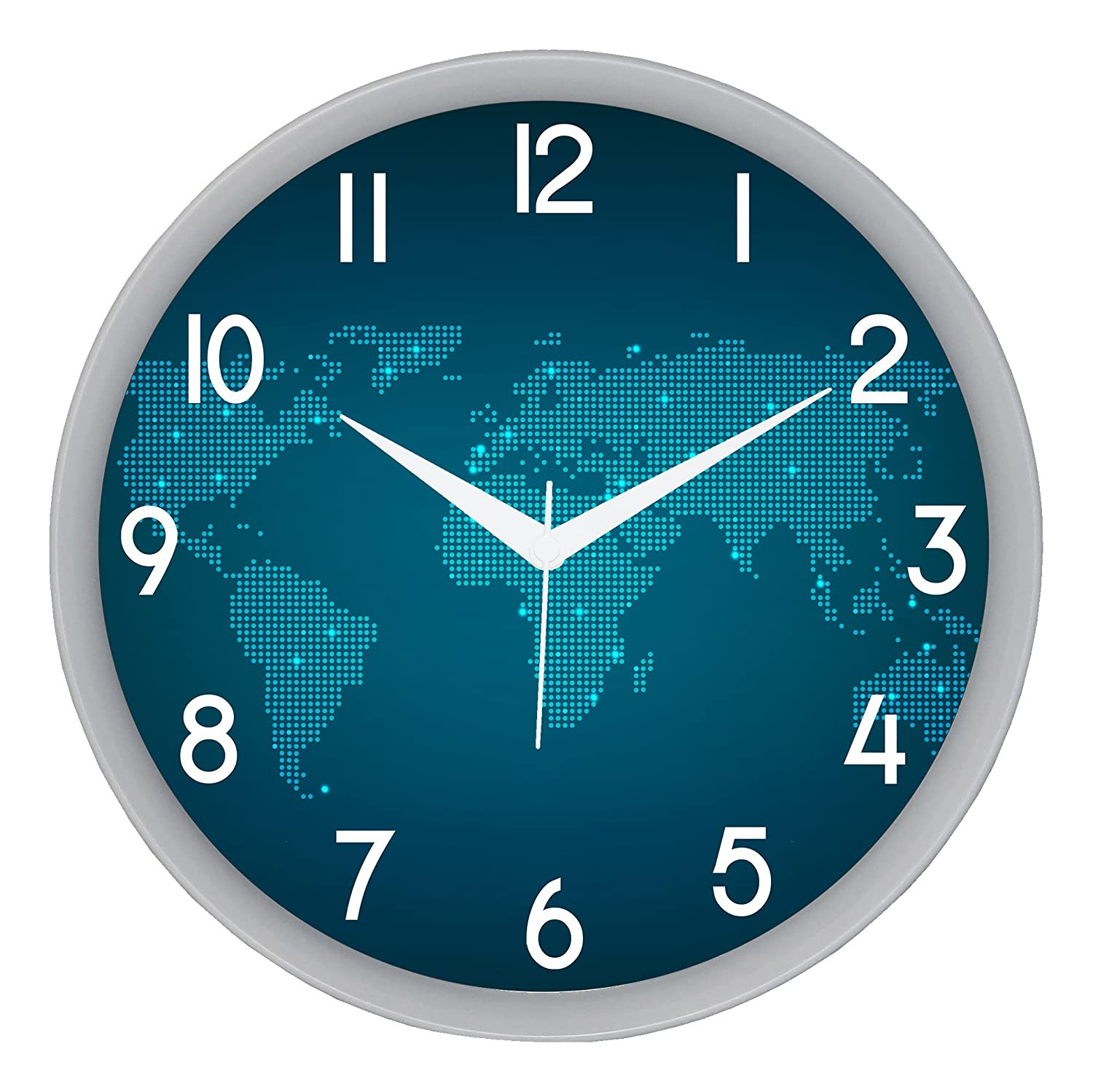 Buy IT2M Designer Silent Non Ticking Movement Round Plastic Wall Clock 28 Cm X 5 Blue 501W Online At Low Prices In India