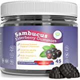 Elderberry Gummies for Kids & Adults - Sambucus, Vitamin C and Zinc (45 Gummies) 130mg Immune System Support Booster…