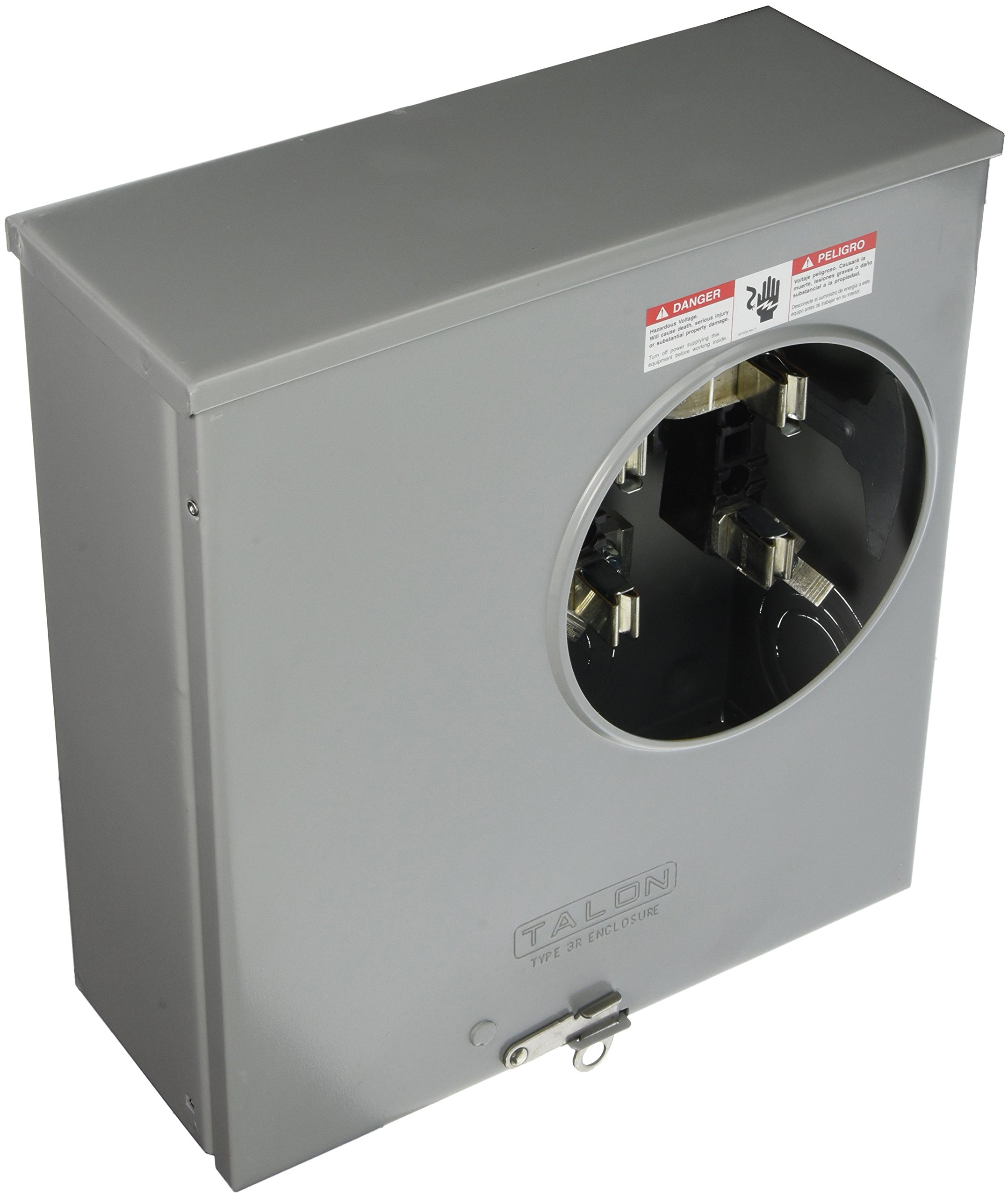 Siemens SUAS877-PPZA Meter Socket with 4 Jaw, Ringless Cover, Horn Bypass, Underground Feed, Side Wired and 7/16 Barrel Lock, 200-Amp