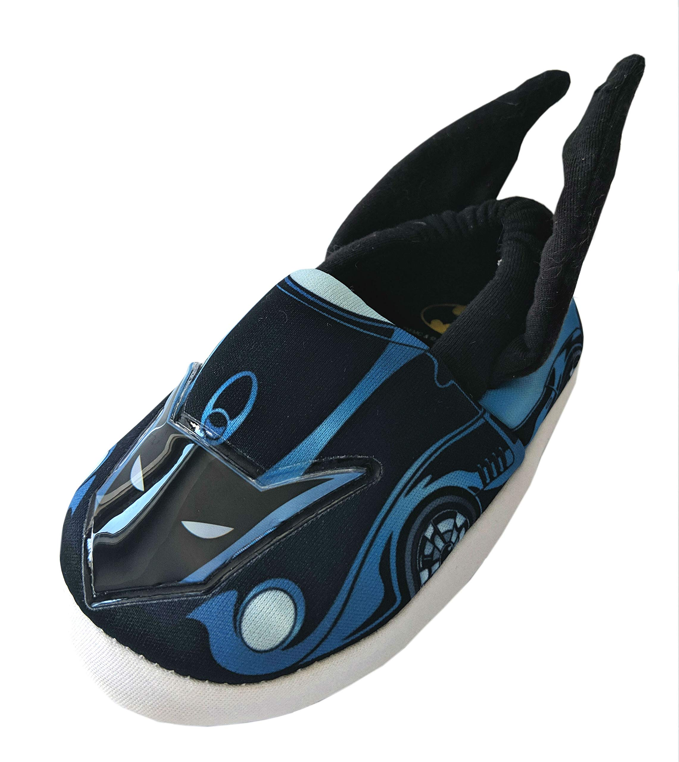 DC-Comics Batman Toddler Boys' Batmobile Slippers Hard Bottom (9-10) Black by DC-Comics