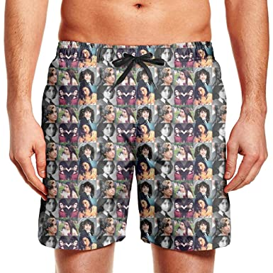 Mens Beach Shorts Fashion Music Swimsuit Trunks Jogging Outdoor Sport Surfing Board