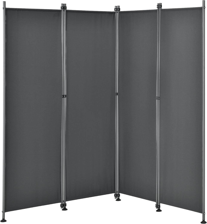 pro.tec]® Pared divisoria / Biombo - 215 x 170 cm - Gris - Biombo ...