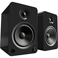 Kanto YU6 Powered Bookshelf Speakers with Bluetooth® and Phono Preamp (Matte Black)