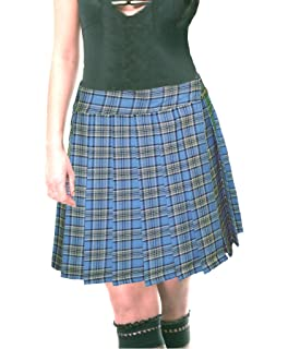MFrannie Girls Knit Stretchy Waist Solid Plaid Stripe Pleated Skirt