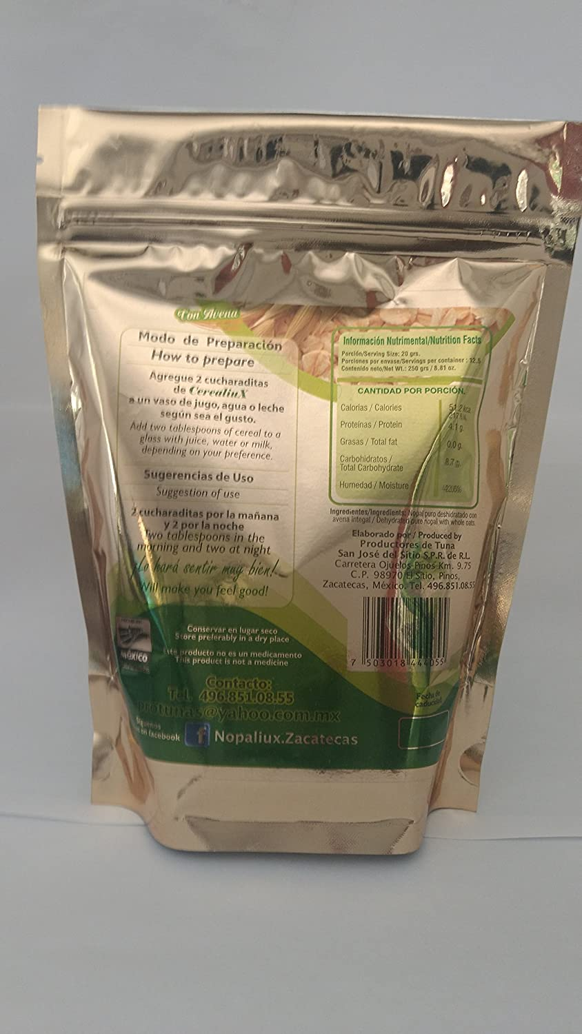 Amazon.com: Cereal (Nopal with Oats): Health & Personal Care