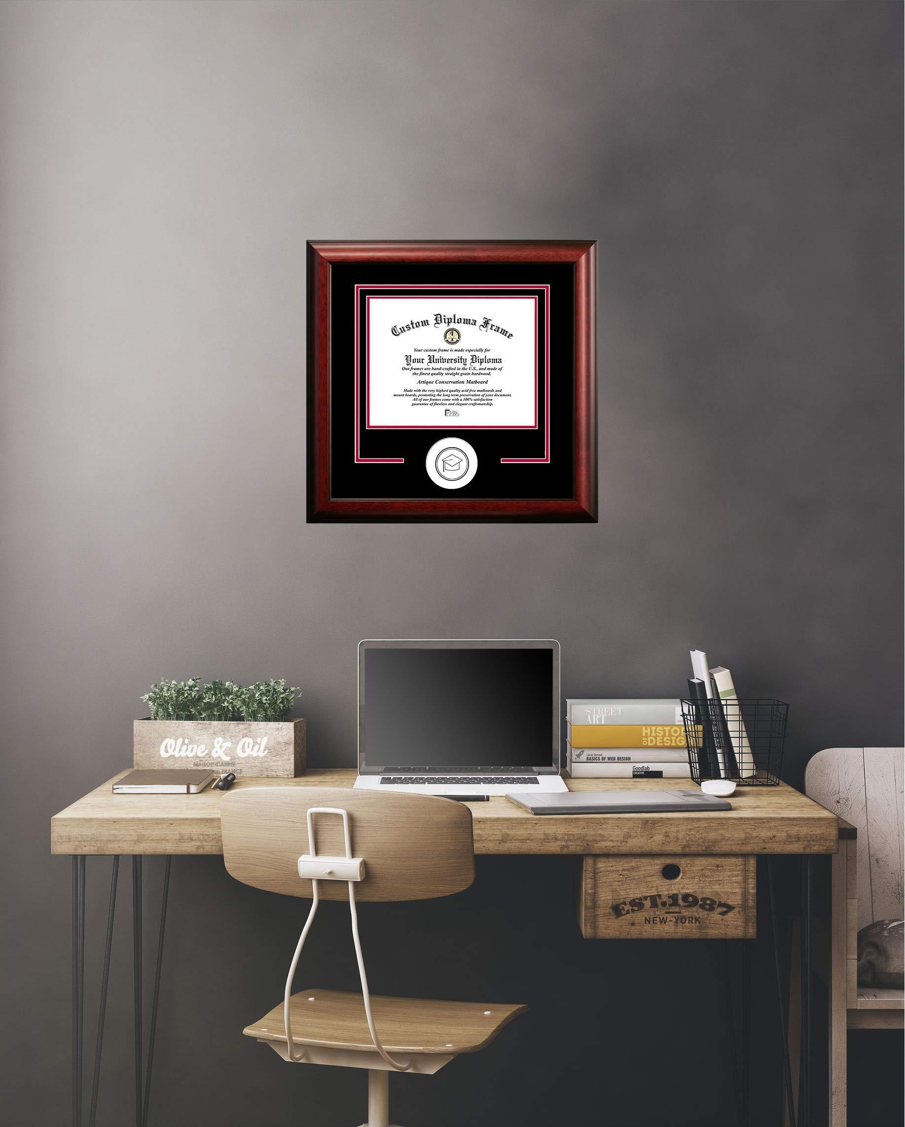 Campus Images NCAA Colorado State Rams Spirit Diploma Frame, 8.5 x 11, Mahogany
