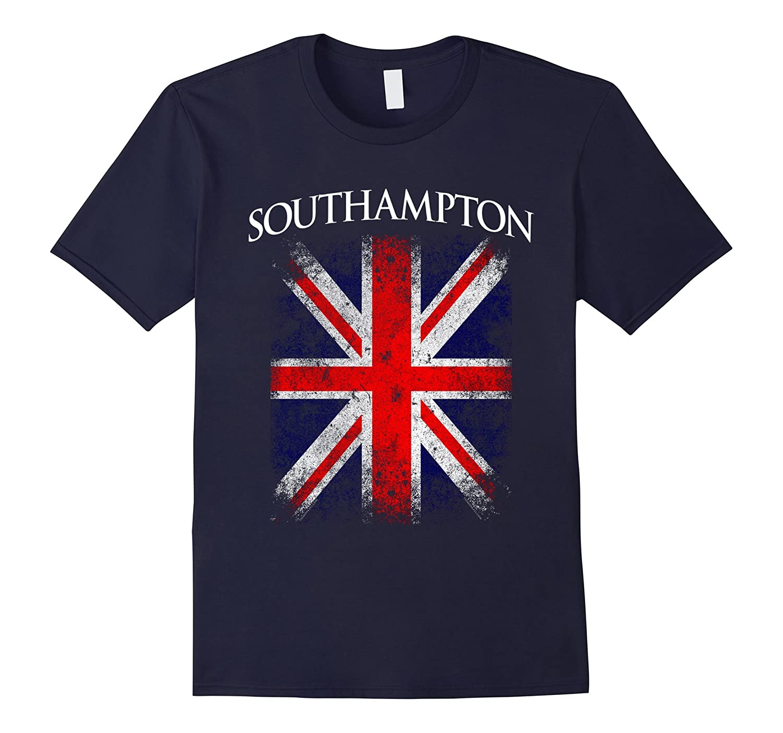 Southampton England British Flag Vintage T-Shirt-Vaci