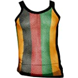 MCR KK TRADERS LTD Mens String Mesh Vest 100/% Cotton Mesh Fish Net Fitted Rasta String Vest