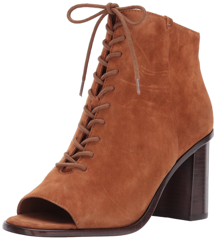 FRYE Women's Amy Peep Lace Boot B01MU9HHM6 8.5 B(M) US|Nutmeg Suede