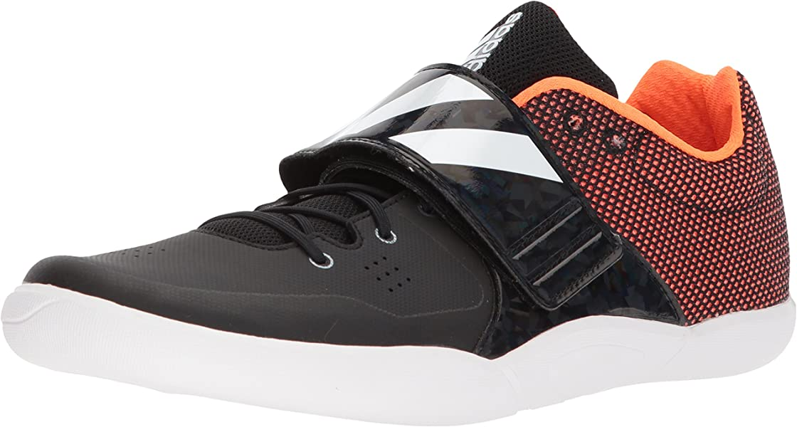 brand new 4cefa e2f46 adidas Adizero DiscusHammer Running Shoe, core Black, FTWR White, Orange,