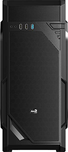 Aerocool VS1 - Caja gaming para PC (semitorre, ATX, 7 ranuras de expansión