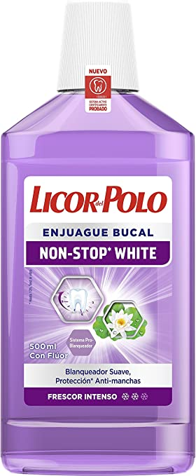 Licor del Polo Non-Stop White Enjuague Bucal - 500 ml: Amazon.es ...
