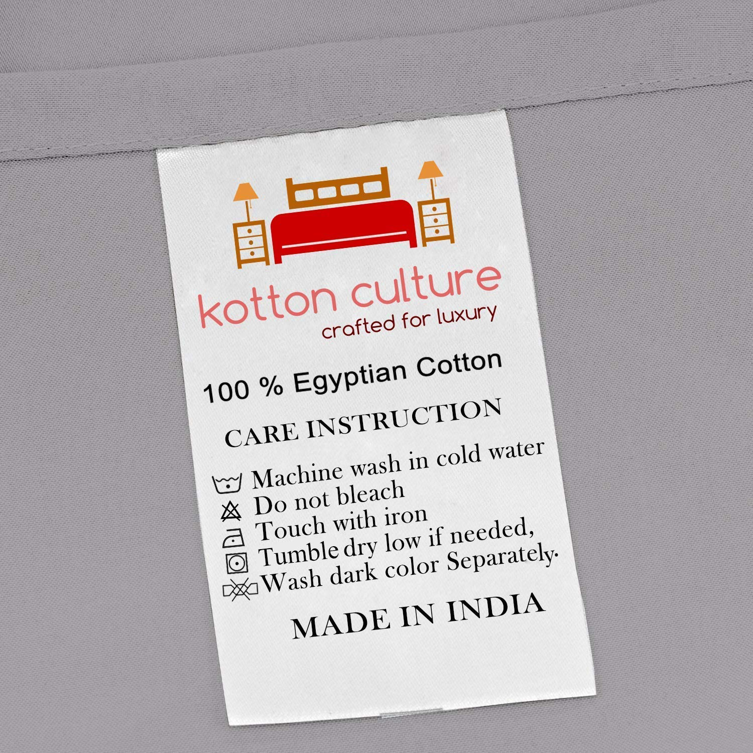 Kotton Culture Pinch Pleated Duvet Cover with Zipper & Corner Ties 100% Egyptian Cotton 600 Thread Count Luxurious & Hypoallergenic Pintuck Decorative (California King/King, Silver) by Kotton Culture (Image #3)