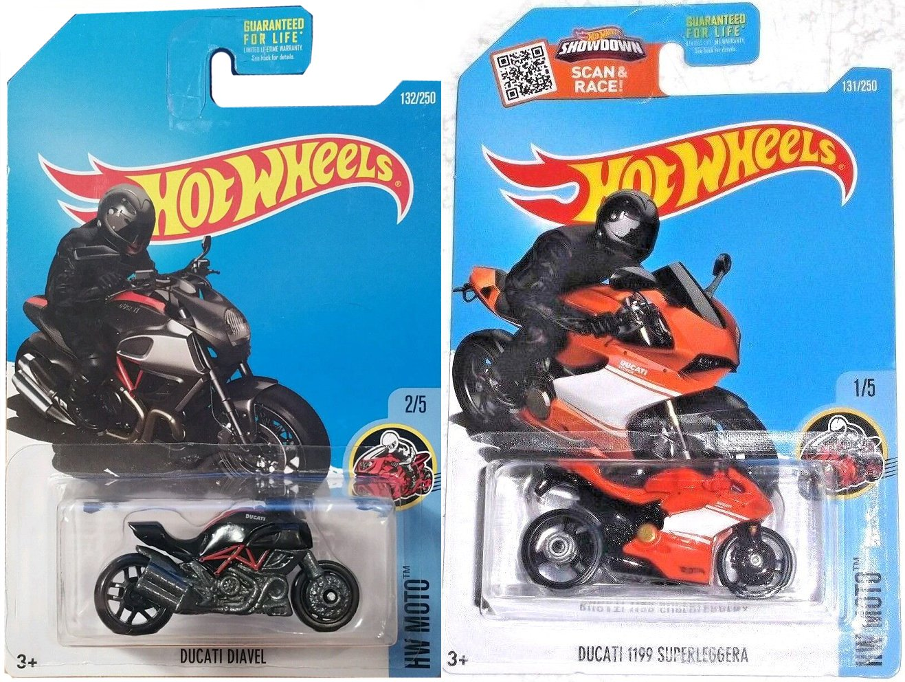 Amazon Com Hot Wheels Motorcycle Series Ducati Moto 2016 Cycle Set