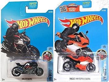 Amazoncom Hot Wheels Motorcycle Series Ducati Moto 2016 Cycle