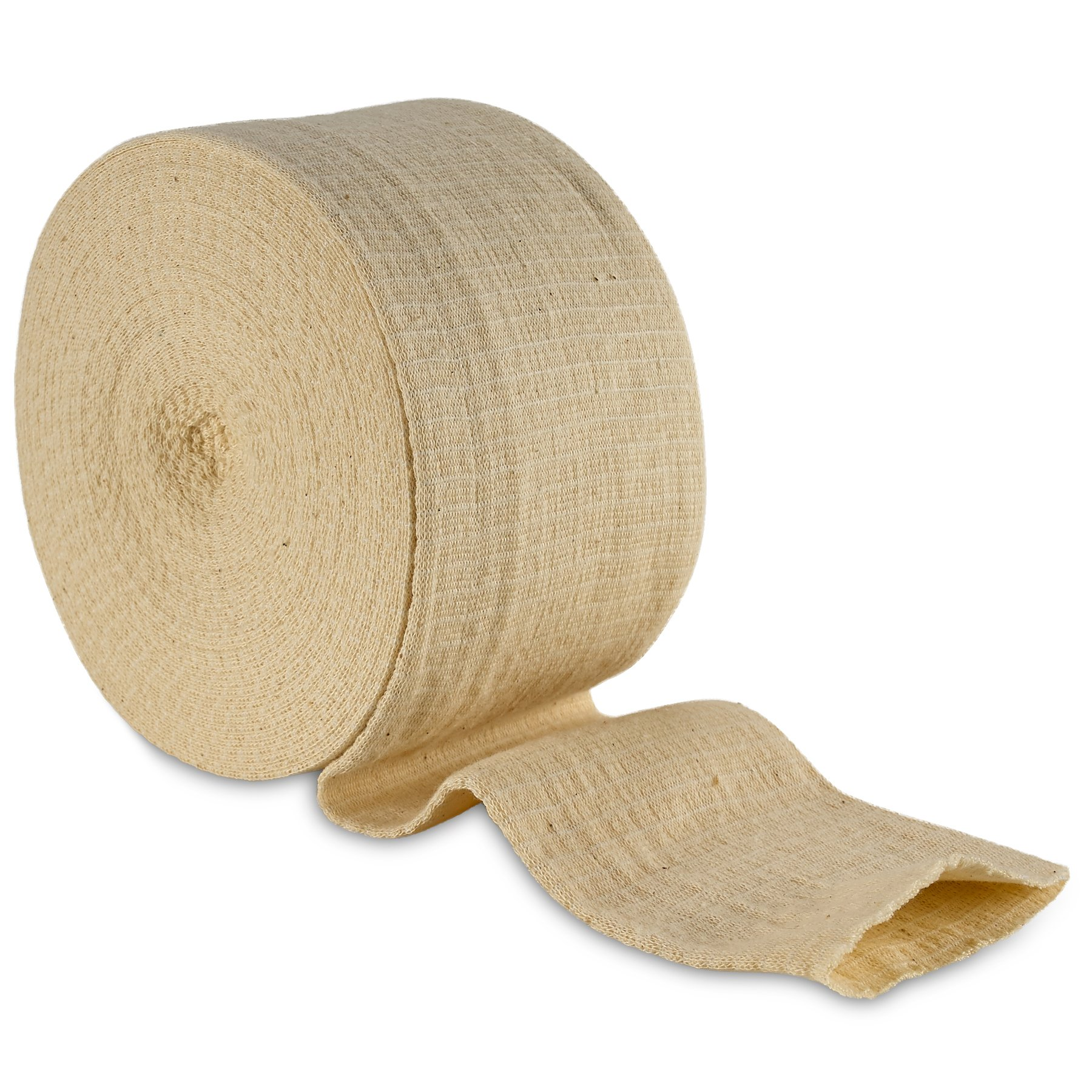 Elastic Tubular Support Bandage Size E, 10M Box - Natural Color (3.5'' X 33 feet) for Large Knee Support Bandage -Medium Thigh, Cotton Spandex
