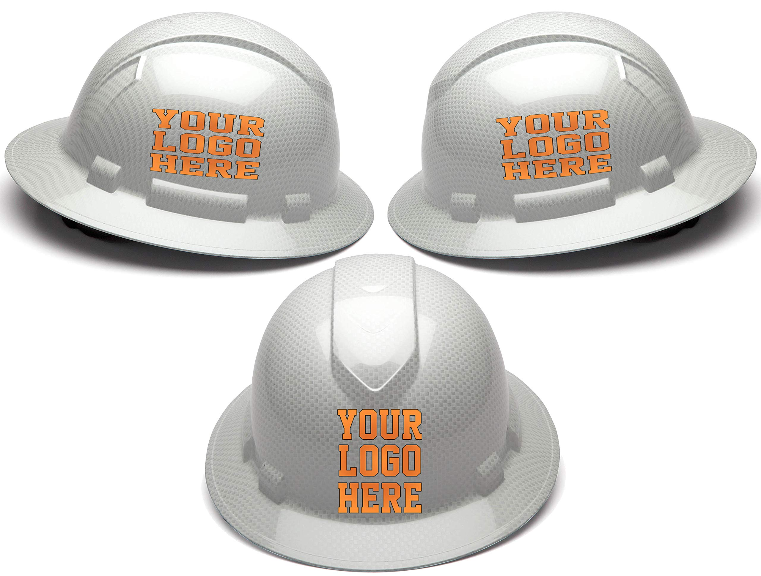 Custom Hard Hats - Personalized Logo - Pyramex Ridgeline Full Brim Cap 4 Point Ratchet Suspension by Safety Miracle (Image #1)
