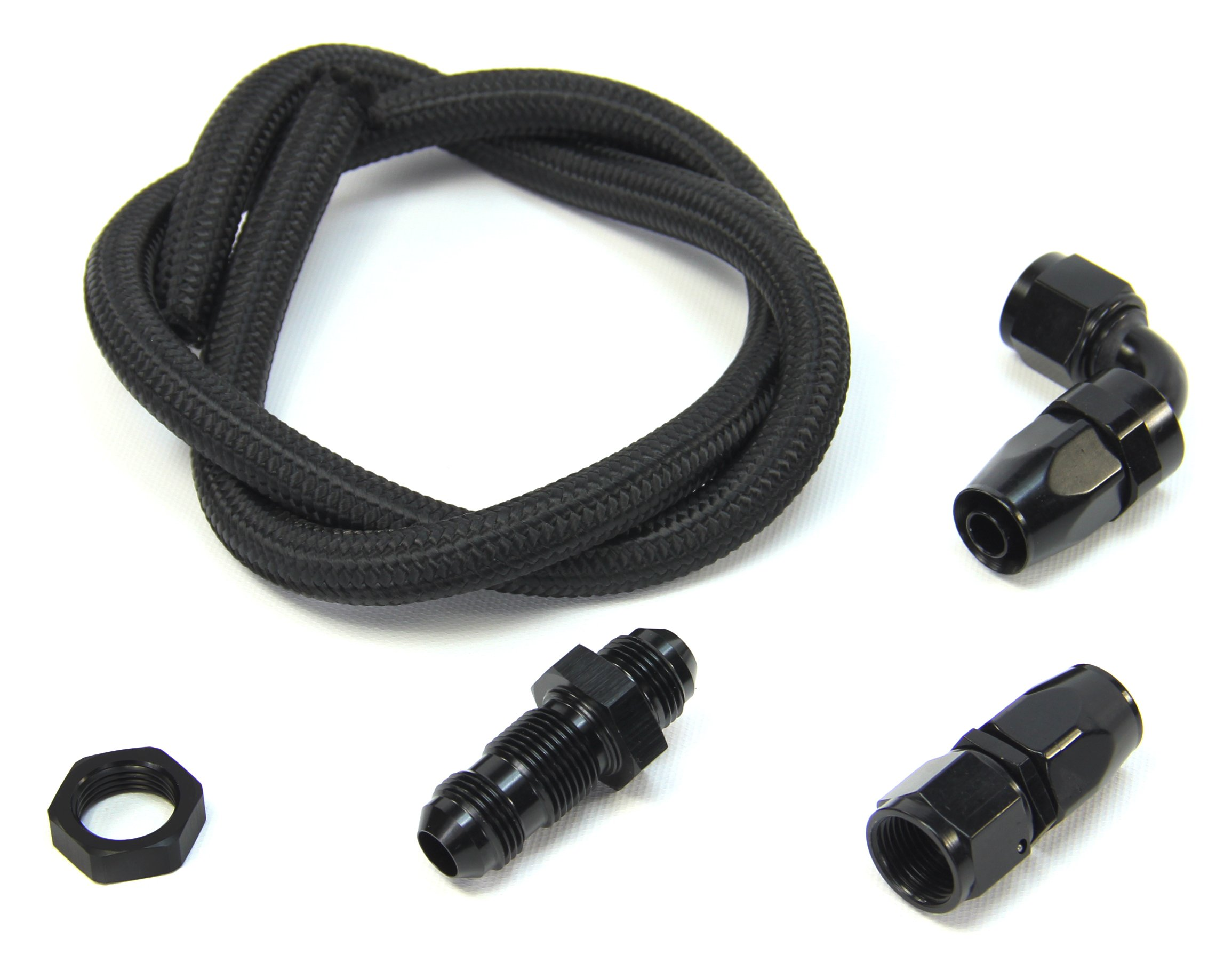90 Degree Universal Blow Down Kit With Straight Bulk Head (Black Fittings)