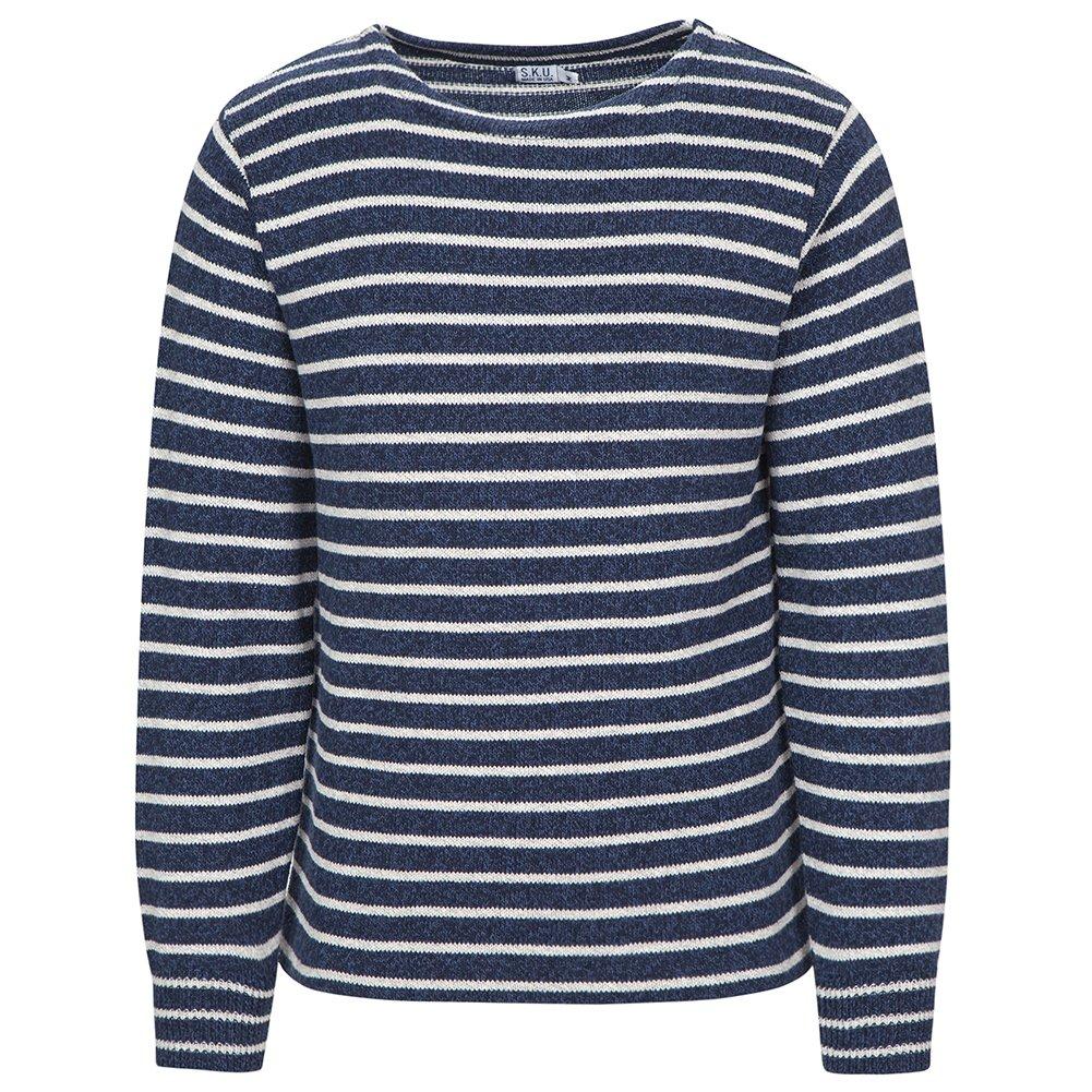 Save Khaki Men's Ragg Sweater SK366 Marine Stripe SZ L