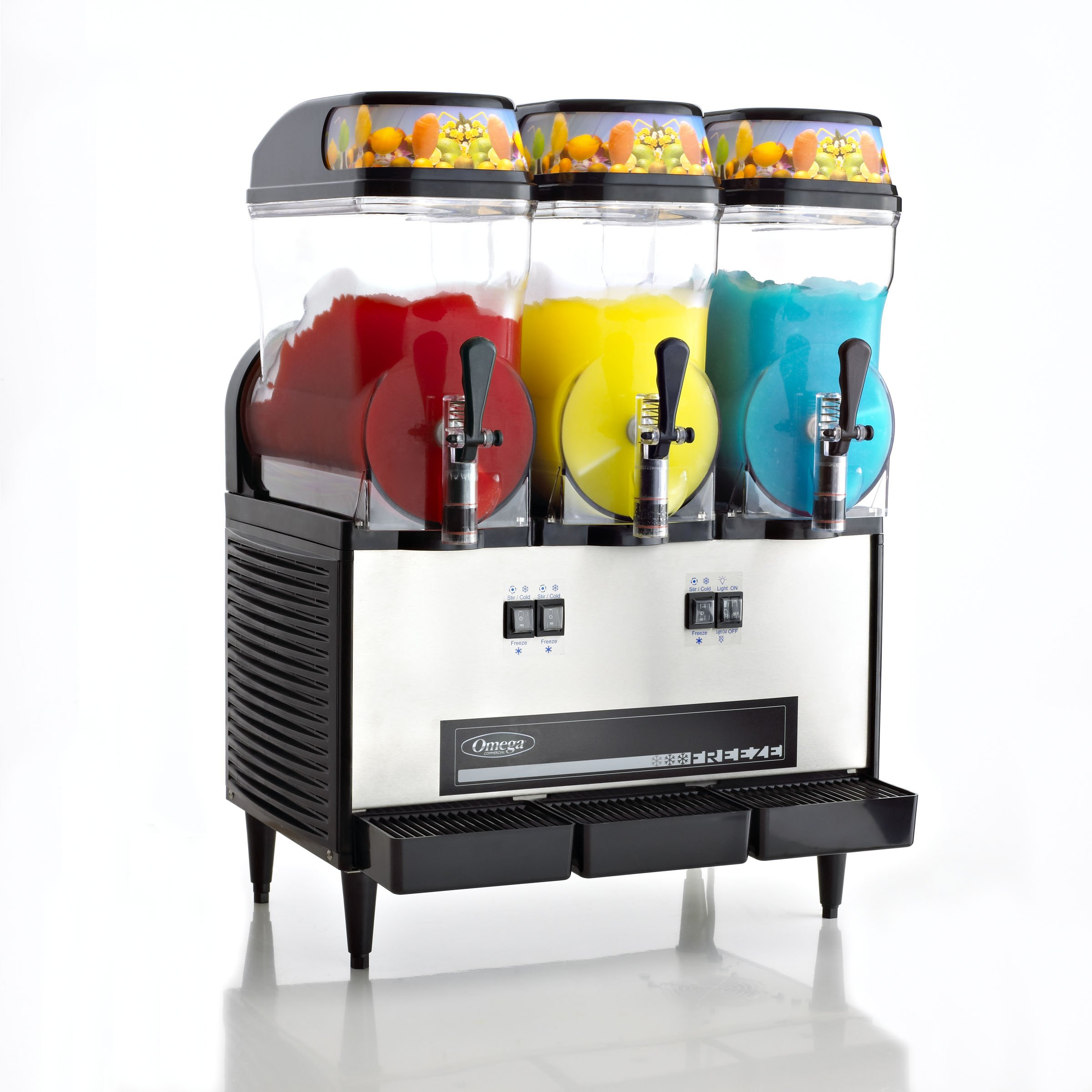 Galleon omega ofs30 commercial 1 2 horsepower 980 watt granita machine with 3 3 gallon bowls for Kitchen set toys r us philippines